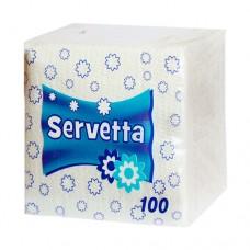 Купить Салфетки бумажные, белые, (100шт) Servetta по низким ценам