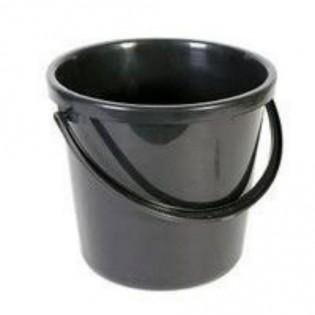 Купить Ведро хозяйственное (10л) пластик. круглое, без крышки с пласт. ручкой, черное 12202 /G10-B по низким ценам