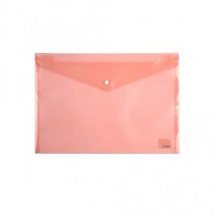 Купить Папка-конверт пласт. А4 на кноп. прозр. красная 1402-24-A. по низким ценам