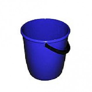 Купить Ведро пищевое (10л) пластик. круглое, без крышки с пласт. ручкой, мерное синее/122010/6/5 по низким ценам