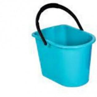 Купить Ведро хозяйственное (14л) пластик. прямоугольное, без крышки с пласт. ручкой MIX /125077-АК/6 по низким ценам