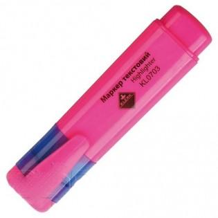 Купить Маркер текст. клиновидный (2-4мм) розовый  KL0703/0734 по низким ценам