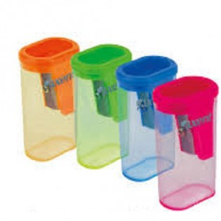 Купить Точилка пластик. с контейнером MIX 1155-A по низким ценам