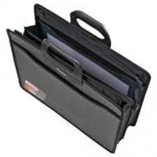 Купить Портфель пласт. А4 3 отделения, черный  BM.3734-01 по низким ценам