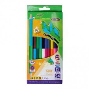 Купить Карандаши цветные 12 /24цв. ZB.2463 по низким ценам