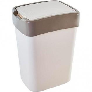 Купить Ведро для мусора (45л) пластик. с плавающей крышкой серое /123068/0/12/1/2/11 по низким ценам