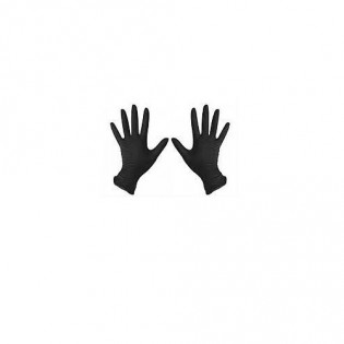 Купить Перчатки нитриловые не опудр. L (пара) черная  (без НДС) по низким ценам