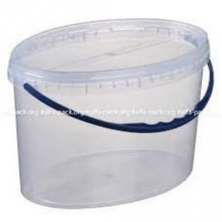 Купить Ведро пищевое  (5л) пластик. овальное с герметичной крышкой с пласт. ручкой по низким ценам