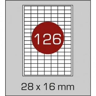 Купить Этикетка самоклеющаяся А4,126-ячеек (28х16мм/100л) 4821 по низким ценам