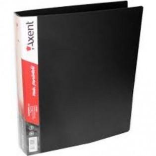 Купить Папка пласт. А4 4 кольца, карман, черная 1208-01-A по низким ценам