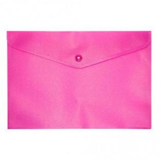 Купить Папка-конверт пласт. А5 на кноп, непрозр, роз. BM.3935-10 по низким ценам