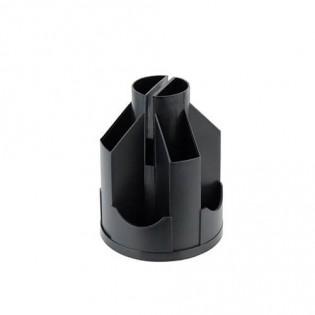 Купить Подставка канцелярская (125х155) пластик, вертушка (10отд), пустая, черная D3004-01 по низким ценам