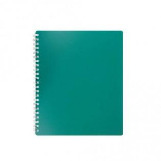 Купить Блокнот  А6 80л # пласт. обложка, боковая спираль, зеленый CLASSIC BM.2589-004 по низким ценам