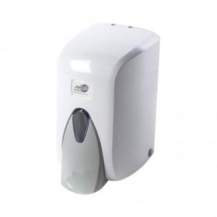Купить Дозатор жидкого мыла (0,5л) белый пластик локтевой S.5-M по низким ценам