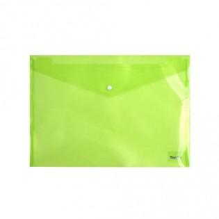 Купить Папка-конверт пласт. А4 на кноп. прозр. зеленая 1402-25-A. по низким ценам