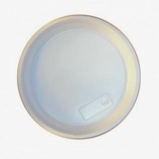 Купить Тарелка (h16*d205/100шт) пластиковая белая для горячих и холодных продуктов Україна по низким ценам