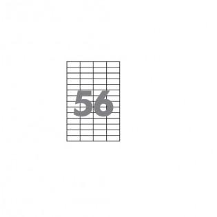 Купить Этикетка самоклеющаяся А4, 56-ячеек (52,5х21,2мм/100л) CRYSTAL по низким ценам