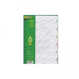 Купить Разделитель А4 (6 страниц) пластик. MIX 4-253 по низким ценам