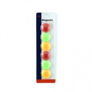 Купить Магниты для досок 30мм (6шт) MIX KL80 по низким ценам