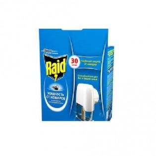 Купить Электрофумигатор от комаров  30 ночей с возожностью реулировки степени защиты Raid по низким ценам