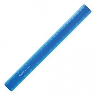 Купить Линейка пластик. 30см матовая синяя Ах7530-02-A по низким ценам