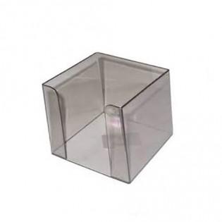 Купить Бокс для бумаги (90х90х90), пластик. дымчатый D4005-28 по низким ценам