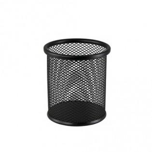 Купить Подставка-стакан для ручек, метал, круглая чернай BM.6202-01 по низким ценам