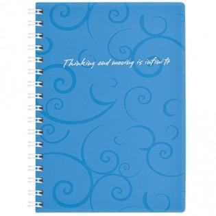 Купить Блокнот  А6 80л # пласт. обложка, боковая спираль, голубой BAROCCO BM.2589-614 по низким ценам