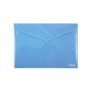Купить Папка-конверт пласт. А4 на кноп. непрозр. синяя 1412-22-A. по низким ценам
