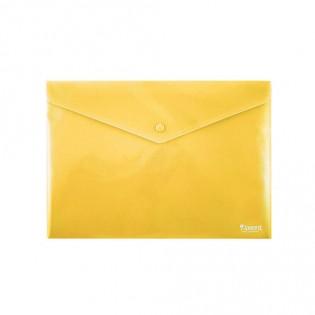 Купить Папка-конверт пласт. А4 на кноп. непрозр. желтая 1412-26-A. по низким ценам
