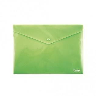 Купить Папка-конверт пласт. А4 на кноп. непрозр. зеленая 1412-25-A. по низким ценам