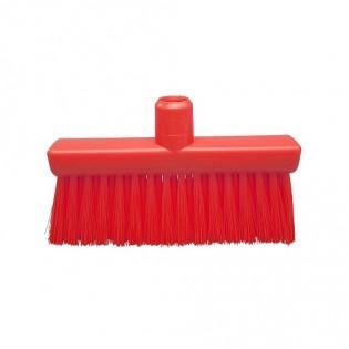 Купить Щетка-метла  полиэстер,средней жесткости,260*35 высота ворса 80мм, цвет красный,FBK 40157-3 ХАССП по низким ценам