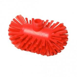 Купить Щетка для мытья резервуаров, средней жесткости, 200*120, полиэстер, цвет красный, FBK ХАССП по низким ценам