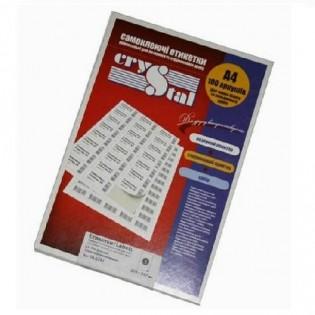 Купить Этикетка самоклеющаяся А4, 65-ячейки (38х21,2мм/100л) CRYSTAL по низким ценам
