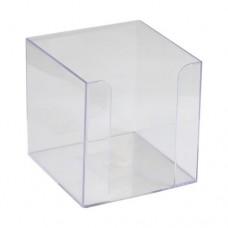 Купить Бокс для бумаги (90х90х90), пластик. прозрачный D4005-27 по низким ценам