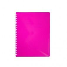 Купить Блокнот  А5 96л # пласт,обложка боковая спираль, с разделителями,  фуксия, FUCHSIA,BM.2464-84 по низким ценам