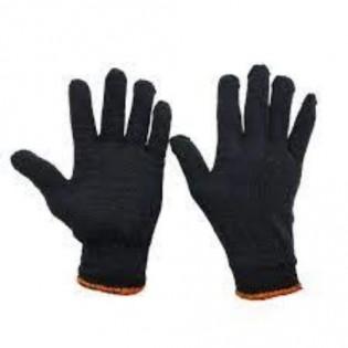 Купить Перчатки трикотажные без ПВХ  черные 10-й класс (3 нити) 8301 по низким ценам