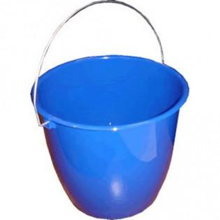 Купить Ведро хозяйственное  (5л) пластик. круглое, без крышки с пластик. ручкой, MIX (С) по низким ценам