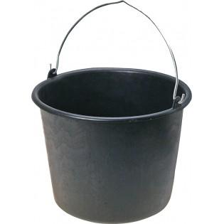 Купить Ведро хозяйственное (11л) пластик. круглое, без крышки с металл. ручкой, мерное черное по низким ценам