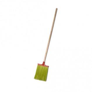 Купить Метла полипропиленовая, (плоская), с деревянным черенком  по низким ценам