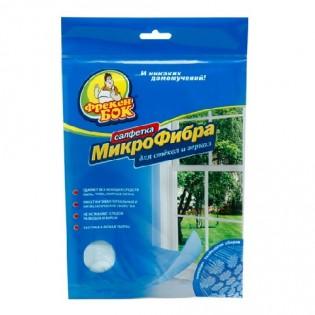 Купить Салфетка, микрофибра, для окон и зеркал, 35х35 см, ФрекенБОК по низким ценам
