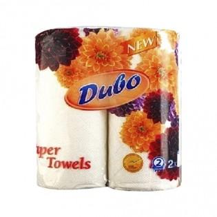 Купить Полотенца бумажные целлюлозные белые, рулон Диво NEW 1885  (2шт) по низким ценам