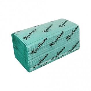 Купить Полотенца бумажные макулатурные V сложен. зеленые (230*250мм/170шт)1-о слойн. Кохавинка по низким ценам