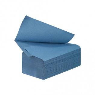 Купить Полотенца бумажные макулатурные синие V сложен. (230*250мм/200шт) 1-о слойн. Кохавинка по низким ценам