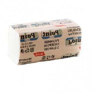 Купить Полотенца бумажные целлюлозные V сложен. белое(210*200мм/150шт) 2-х слойн.Point to Point по низким ценам