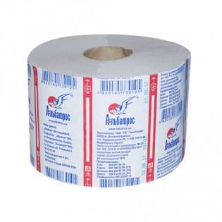Купить Туалетная бумага макулатурная на гильзе серая (90мм *140мм/90м) Альбатрос