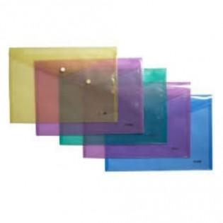 Купить Папка-конверт пласт. А4 на кноп. прозр. MIX 4-208 по низким ценам