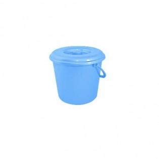 Купить Ведро пищевое (10л) пластик. круглое, с крышкой с пласт. ручкой MIX/122010 по низким ценам