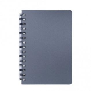 Купить Блокнот  А6 80л # пласт. обложка, боковая спираль, графит STATUS BM.24652153-50 по низким ценам