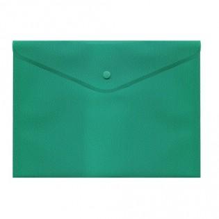 Купить Папка-конверт пласт. А5 на кноп, непрозр, зел, BM.3935-04 по низким ценам